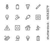 electricity icons. strokes have ... | Shutterstock .eps vector #46563079