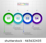 infographics step by step.... | Shutterstock .eps vector #465632435