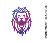lion head   vector logo... | Shutterstock .eps vector #465641087