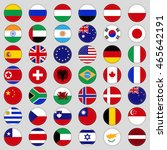 set of flags. top  famous... | Shutterstock .eps vector #465642191
