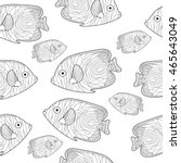 fish seamless texture  hand... | Shutterstock .eps vector #465643049
