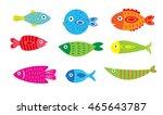 cartoon baby fish set  vector...   Shutterstock .eps vector #465643787