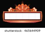 brightly theater glowing orange ... | Shutterstock .eps vector #465644909