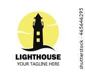 lighthouse logo design template | Shutterstock .eps vector #465646295