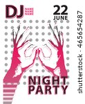 night party poster or flyer... | Shutterstock .eps vector #465654287