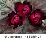 flowers watercolor illustration.... | Shutterstock . vector #465655427