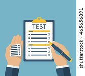 man on the exam is tested....   Shutterstock .eps vector #465656891