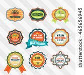 vintage labels for back to... | Shutterstock .eps vector #465656945