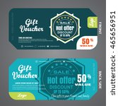 blank of gift voucher vector... | Shutterstock .eps vector #465656951