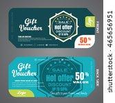 blank of gift voucher vector... | Shutterstock .eps vector #465656951