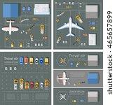 airport passenger terminal top... | Shutterstock .eps vector #465657899