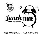 Lunch Time. Lettering