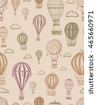 retro pattern vector air... | Shutterstock .eps vector #465660971