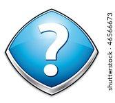 blue question mark diamond icon....   Shutterstock .eps vector #46566673