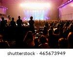 barcelona   apr 24  crowd in a... | Shutterstock . vector #465673949