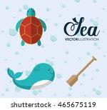 sea animal cartoon design... | Shutterstock .eps vector #465675119