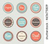 vintage labels template set ...