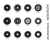 set of gears. vector... | Shutterstock .eps vector #465678194
