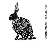 black hare. march hare.... | Shutterstock . vector #465680759