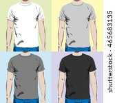 t shirt design template on a... | Shutterstock . vector #465683135