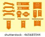 medieval banner flag | Shutterstock .eps vector #465685544