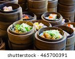 chinese steamed shrim dimsum in ... | Shutterstock . vector #465700391