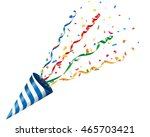 exploding party popper with... | Shutterstock .eps vector #465703421