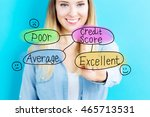 credit score concept with young ...   Shutterstock . vector #465713531