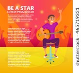 cartoon electric guitar player. ... | Shutterstock .eps vector #465719321