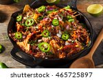 homemade barbecue pulled pork... | Shutterstock . vector #465725897