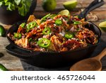 homemade barbecue pulled pork... | Shutterstock . vector #465726044