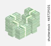 stacks of one hundred dollar... | Shutterstock .eps vector #465729101