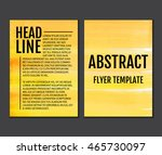 set of templates brochure ... | Shutterstock .eps vector #465730097