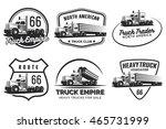 set of classic heavy truck logo ...   Shutterstock .eps vector #465731999