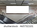 blank billboard located in... | Shutterstock . vector #465732101