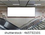 blank billboard located in...   Shutterstock . vector #465732101