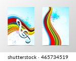 front and back dynamic wave... | Shutterstock .eps vector #465734519