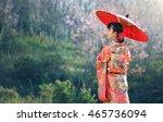 asian woman wearing traditional ... | Shutterstock . vector #465736094
