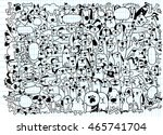animals. cats and dogs vector... | Shutterstock .eps vector #465741704