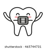 teeth character isolated icon... | Shutterstock .eps vector #465744731