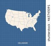 map of delaware | Shutterstock .eps vector #465745091