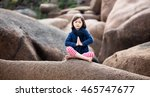 spiritual young kid with eyes... | Shutterstock . vector #465747677