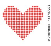 simple red heart sharp vector... | Shutterstock .eps vector #465757271