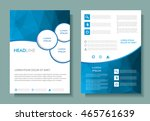 abstract brochure design.flyer... | Shutterstock .eps vector #465761639
