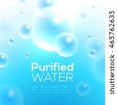 clean purified water vector...   Shutterstock .eps vector #465762635