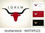 bull. long horn steer vector... | Shutterstock .eps vector #465769121