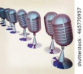 3d rendering of a microphones.... | Shutterstock . vector #465770957