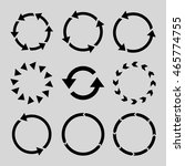 rotation direction vector icon... | Shutterstock .eps vector #465774755