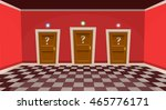 "cartoon ""choose a door"" concept.... 