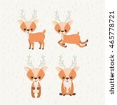 reindeer cute wildlife icon... | Shutterstock .eps vector #465778721